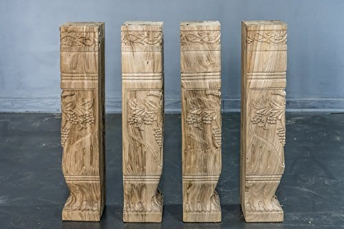 Hand Carved Semi Finished Table Leg 4 Pieces Set 0