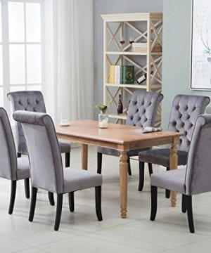 Harper Bright Design Tufted Armless Upholstered Accent Chair Set of 2  (Grey), Gray