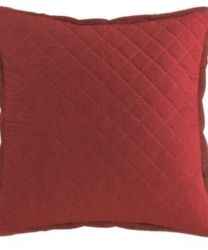 Heritage Lace FH 016 Farmhouse Quilted Pillow Red 22 X 22 0 300x360