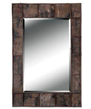 Kenroy Home Rustic Rectangular Wall Mirror Natural Birch Bark Finish 38 28 Inches Easy Hang D Rings Included 38 Inches By 28 Inches Brown 0 300x360