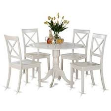 east west furniture farmhouse dining table set