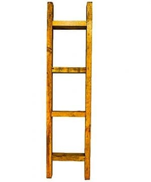 24 Decorative Wood Ladder For Rustic Traditional Or Farmhouse Decor Perfect For Empty Corners No Assembly Required 0 300x360