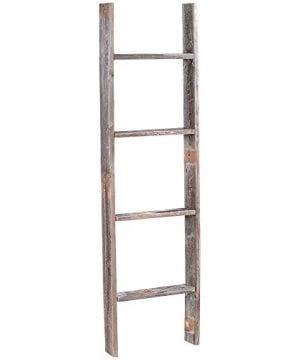 4 Reclaimed Barnwood Rustic Ladder 0 0 300x360