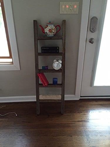 4 Reclaimed Barnwood Rustic Ladder 0 2