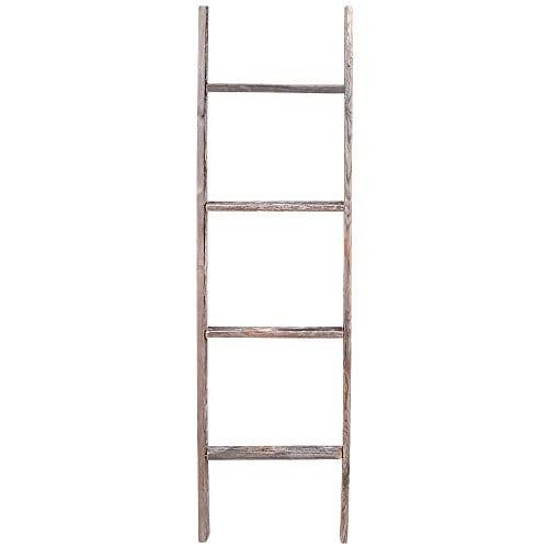 4 Reclaimed Barnwood Rustic Ladder 0