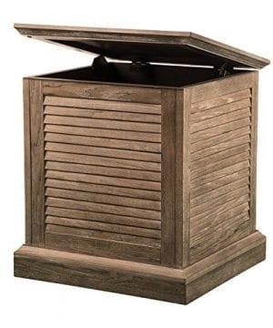 Abram Louvered Storage Trunk End Table Burnt Oak 22 W X 21 D X 245 H 0 0 300x360