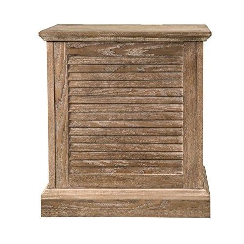Abram Louvered Storage Trunk End Table Burnt Oak 22 W X 21 D X 245 H 0 1