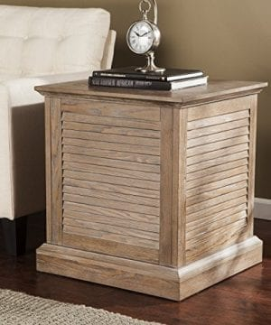 Abram Louvered Storage Trunk End Table Burnt Oak 22 W X 21 D X 245 H 0 300x360