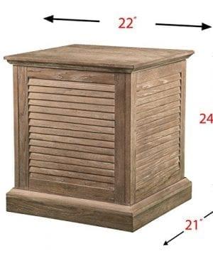 Abram Louvered Storage Trunk End Table Burnt Oak 22 W X 21 D X 245 H 0 4 300x360