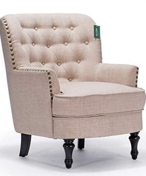Accent Chair Morden Fort Armchair For Living RoomBedroomHome Decoration Beige Linen 0 0 300x360