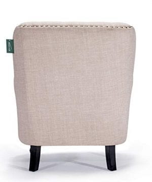 Accent Chair Morden Fort Armchair For Living RoomBedroomHome Decoration Beige Linen 0 2 300x360