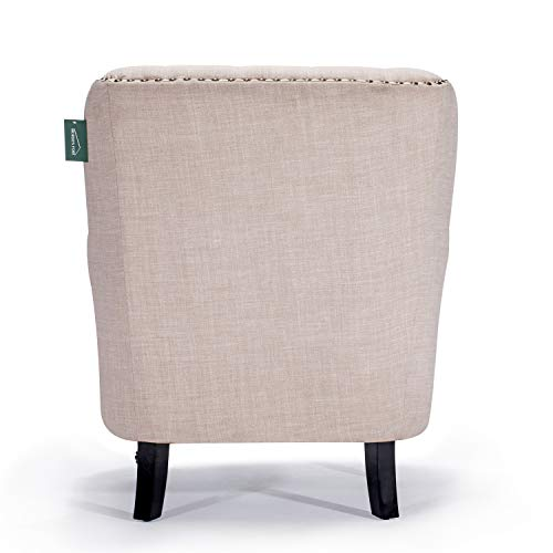 Accent Chair Morden Fort Armchair For Living RoomBedroomHome Decoration Beige Linen 0 2