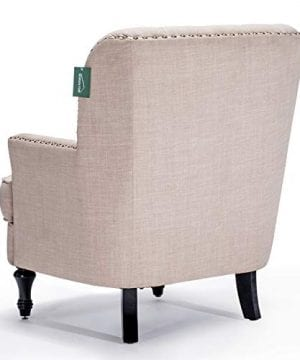 Accent Chair Morden Fort Armchair For Living RoomBedroomHome Decoration Beige Linen 0 3 300x360