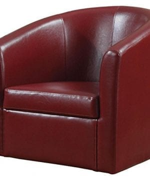 Accent Swivel Chair Red 0 300x360