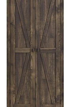 Ameriwood Home 7532096COM Farmington Wide Storage Cabinet 315 Rustic 0 0 239x360