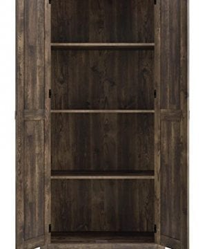 Ameriwood Home 7532096COM Farmington Wide Storage Cabinet 315 Rustic 0 1 300x360