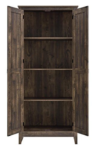 Ameriwood Home 7532096COM Farmington Wide Storage Cabinet 315 Rustic 0 1