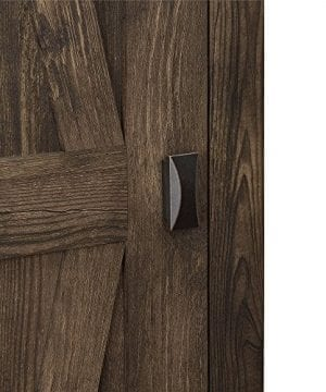 Ameriwood Home 7532096COM Farmington Wide Storage Cabinet 315 Rustic 0 2 300x360