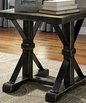 Ashley Furniture Signature Design Beckendorf Casual Square End Table Black 0 0 300x360