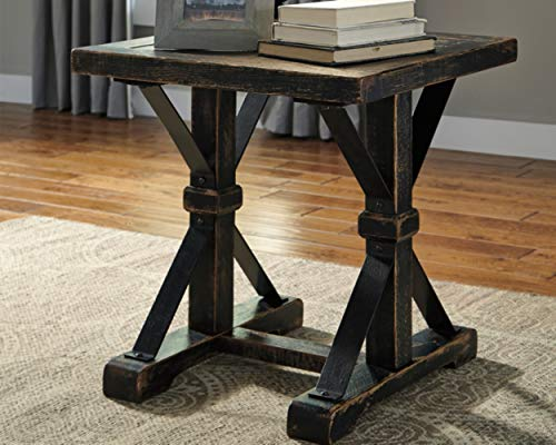 Ashley Furniture Signature Design Beckendorf Casual Square End Table Black 0 0