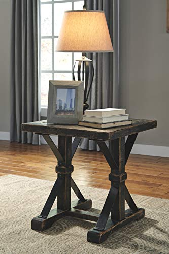 Ashley Furniture Signature Design Beckendorf Casual Square End Table Black 0 1