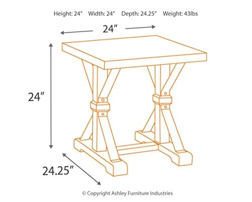 Ashley Furniture Signature Design Beckendorf Casual Square End Table Black 0 2