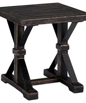 Ashley Furniture Signature Design Beckendorf Casual Square End Table Black 0 300x360