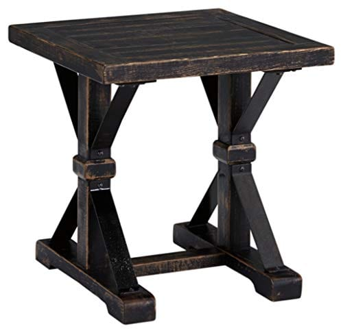 Ashley Furniture Signature Design Beckendorf Casual Square End Table Black 0