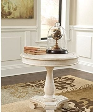 Ashley Furniture Signature Design Mirimyn End Table Cottage Style Accent Table Chipped White 0 0 300x360