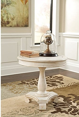 Ashley Furniture Signature Design Mirimyn End Table Cottage Style Accent Table Chipped White 0 0
