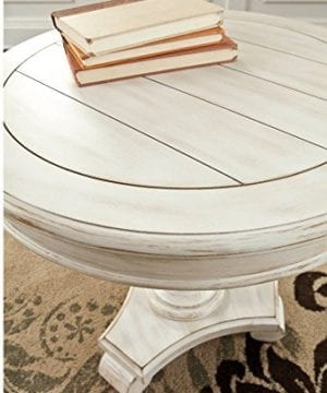 Ashley Furniture Signature Design Mirimyn End Table Cottage Style Accent Table Chipped White 0 1 300x360