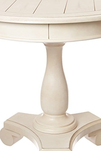 Ashley Furniture Signature Design Mirimyn End Table Cottage Style Accent Table Chipped White 0 4