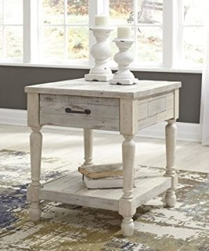 Ashley Furniture Signature Design Shawnalore Casual Rectangular End Table With Storage White Wash 0 0 300x360