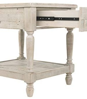Ashley Furniture Signature Design Shawnalore Casual Rectangular End Table With Storage White Wash 0 4 300x340