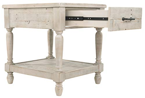 Ashley Furniture Signature Design Shawnalore Casual Rectangular End Table With Storage White Wash 0 4