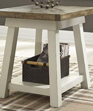 Ashley Furniture Signature Design Stowbranner Casual Rectangular End Table Two Tone White And Brown 0 0 300x360