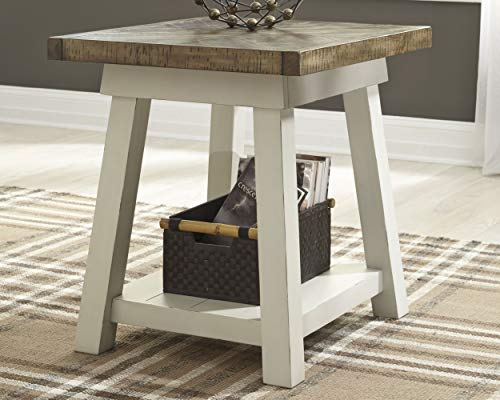 Ashley Furniture Signature Design Stowbranner Casual Rectangular End Table Two Tone White And Brown 0 0