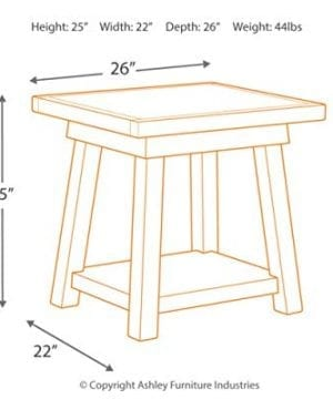 Ashley Furniture Signature Design Stowbranner Casual Rectangular End Table Two Tone White And Brown 0 2 300x360