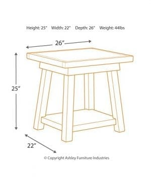 Ashley Furniture Signature Design Stowbranner Casual Rectangular End Table Two Tone White And Brown 0 3 300x360