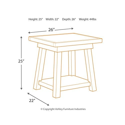 Ashley Furniture Signature Design Stowbranner Casual Rectangular End Table Two Tone White And Brown 0 3