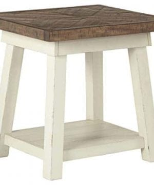 Ashley Furniture Signature Design Stowbranner Casual Rectangular End Table Two Tone White And Brown 0 300x360