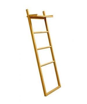 Asta Spa Teak Towel Ladder With Shelf 0 300x360