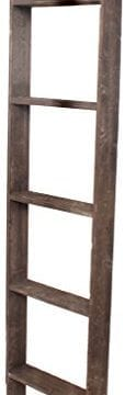 BarnwoodUSA Rustic 5 Foot Decorative Wooden Display Ladder 100 Reclaimed Wood Brown 0 124x360