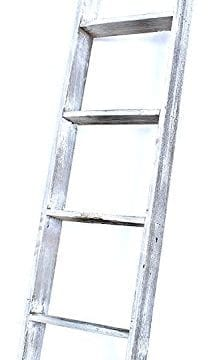 BarnwoodUSA Rustic Farmhouse Blanket Ladder Our 4 Ft Ladder Can Be Mounted Horizontally Or Vertically And Is Crafted From 100 Recycled And Reclaimed Wood No Assembly Required White 0 221x360