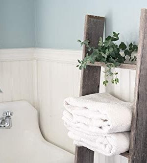 BarnwoodUSA Rustic Farmhouse Blanket Ladder Our 5 Ft Ladder Can Be Mounted Horizontally Or Vertically And Is Crafted From 100 Recycled And Reclaimed Wood No Assembly Required 0 0 300x333