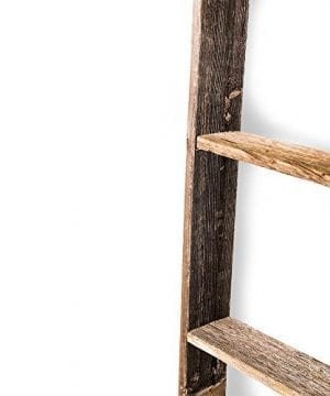 BarnwoodUSA Rustic Farmhouse Blanket Ladder Our 5 Ft Ladder Can Be Mounted Horizontally Or Vertically And Is Crafted From 100 Recycled And Reclaimed Wood No Assembly Required 0 1 300x360