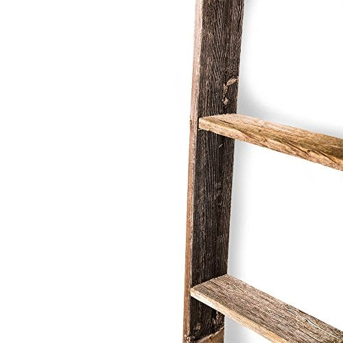 BarnwoodUSA Rustic Farmhouse Blanket Ladder Our 5 Ft Ladder Can Be Mounted Horizontally Or Vertically And Is Crafted From 100 Recycled And Reclaimed Wood No Assembly Required 0 1