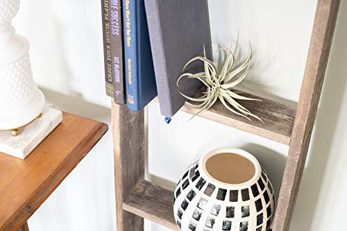 BarnwoodUSA Rustic Farmhouse Blanket Ladder Our 5 Ft Ladder Can Be Mounted Horizontally Or Vertically And Is Crafted From 100 Recycled And Reclaimed Wood No Assembly Required 0 2