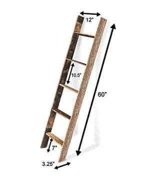 BarnwoodUSA Rustic Farmhouse Blanket Ladder Our 5 Ft Ladder Can Be Mounted Horizontally Or Vertically And Is Crafted From 100 Recycled And Reclaimed Wood No Assembly Required 0 3 300x360