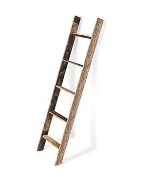 BarnwoodUSA Rustic Farmhouse Blanket Ladder Our 5 Ft Ladder Can Be Mounted Horizontally Or Vertically And Is Crafted From 100 Recycled And Reclaimed Wood No Assembly Required 0 300x360